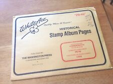 White Ace Album Pages Comm Plate Block Supplement 1994 PB-46 Never Used  |