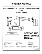 More details for terex ta30n knuckle boom service maintenance manual jul 98 edition reprinted