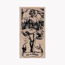 Mounted Rubber Stamp, Tarot Xxi The World, Tarot Card, Horoscope, Magic, Fortune