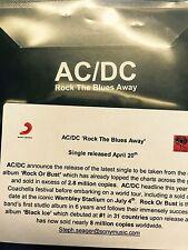 Ac/Dc 'Rock The Blues Away' Brand New Sony cd promo & sticker