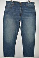 Lucky Brand Men Jeans 181 Relaxed Straight Linen Lightweight Sz 40x32 Meas 40x33