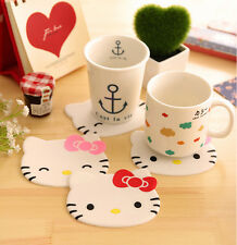 Hello Kitty Silicone Cup Cushion Coaster Glass Mat Dish Plate Holder 4pcs/set