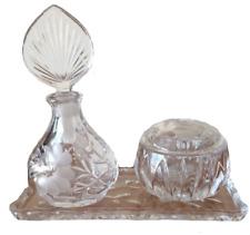 Vintage 1990's Princess House Heritage Crystal Vanity Set of 5