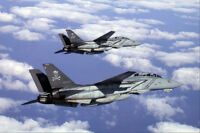 F-14 TOMCAT VF-103 PAIR IN FLIGHT 8x12 SILVER HALIDE PHOTO PRINT