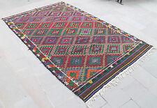 Turkish Kilim Rug 73''x118'' Hand Woven Konya Cicim Kilim 187x300cm Nomads Kilim