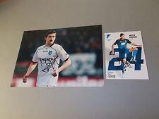 Justin Hoogma  TSG 1899 Hoffenheim signiert signed Autogramm 20x28 Foto + AK