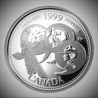 1999 Canada Millennium Series January 25 Cents *Proof Like* Quarter!!