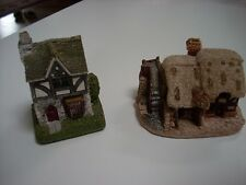 "(2) Lilliput Lane handpainted miniatures ""Tuck House"" 1993 and ""Watermill"" 1985"