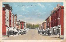 Niles Michigan 1922 Postcard Main Street Cars Shops