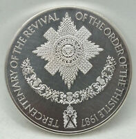 Order of Thistle Tercentenary .925 Silver Medal 1987 Royal Mint & Case - BC750