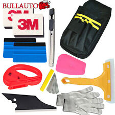 12 Tint-Pro 3M Felt Squeegee Vinyl Cutter Car Wrapping Install Tool Bag Kit