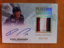 2011-12 UD SP Authentic RYAN JOHANSEN Future Watch Limited Auto Patch 094/100