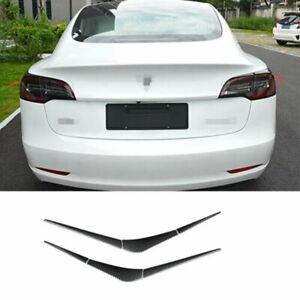 6x Carbon Fiber Rear Tail Light Lamp Strip Trim Fit For Tesla Model 3 2017-2021