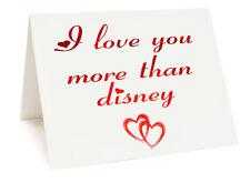 Anniversaire St. Valentin Carte D'anniversaire - I Love You Plus De Disney