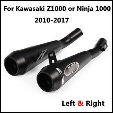 Slip on Exhaust Muffler Pipe Left & Right For Kawasaki Z1000 Ninja1000 2010-2017