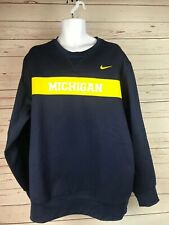NWOT Mens Michigan Wolverines Football Coaches Crew Neck Sweatshirt Size Large