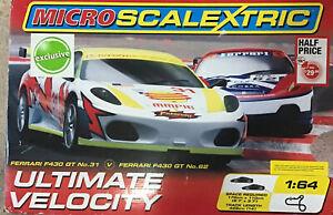 Micro Scalextric 1/64 Scale G1048 Ultimate Velocity Ferrari F430 GT Challenge