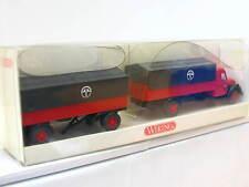 Wiking Magirus s 7500 pritschenhängerzug terosen embalaje original (n5753)