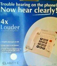 Clarity W-1000 Single Line Corded Desk Landline Phone - 4X Louder - 26dB Beige