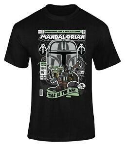 Mandalorian Movie Poster T-Shirt Adults Novelty Funny Shirt Top Gift For Men