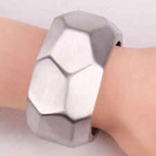 Unisex Men Womens 925 Sterling Silver Cuff Bangle Bracelet L93