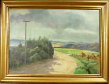 WILLY DANNERFJORD! LANDSCAPE ON A CLOUDY DAY. NO RESERVE