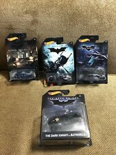 Hot Wheels The Dark Knight Lot - batmobile, bat pod, the bat.