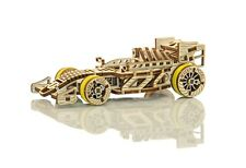 WOODEN CITY® Bolid Rennwagen, Holzmodellbausatz, 3D Holzpuzzle, Selbstmontage,F1