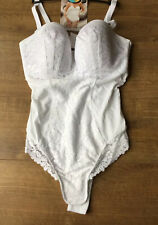 BNWT M&S Ladies White Shaping Medium Control Body  -  Size 40 D - RRP £39.50