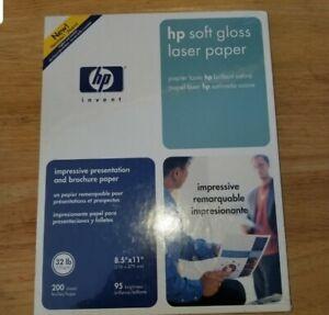 HP COLOR SOFT GLOSS PAPER C4179A LaserJet 200 Sheets 8 1/2 x 11