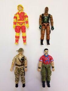Hasbro Gi Joe Action Figure Lot of 4 1984 1985 Blowtorch Roadblock Recondo