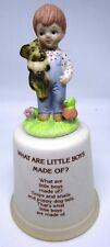 Little Boy Painted Ceramic Bell - Collectible - Vintage