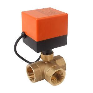 3 Wege 1 Zoll Kugelventil Elektrisch Zonenventil Solarventil 230V 60 m³/h Wasser