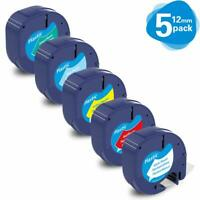 5Pk Compatible with DYMO Plus LT-100T Label Maker 91331 91332 91333 91334 91335