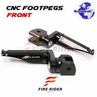 For CB600F CB900F Hornet CBF500 CB500S Adjustable Front Foot Pegs Black
