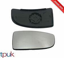 FORD TRANSIT MK8 LOWER DOOR WING MIRROR GLASS 2014 ON DRIVER RIGHT + BACK PLATE