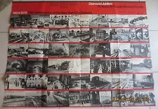 1979 RARE  GIANT POSTER - 75TH ANNIV. OF NYC SUBWAY - BILL BONNELL / HUGH DUNNES
