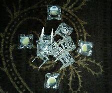 5mm Piranha LED White Round Head Bulb Diode | Clear | 4 LEG | 1 Set = 11 Pieces