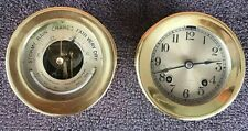 "New listing Antique Chelsea Ship'S Bells Clock W/ Barometer, Circa 1920S, 3.75"" Dial"