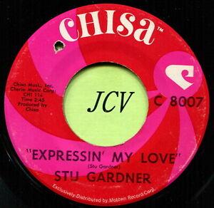 STU GARDNER (Expressin' My Love / I Don't Dream)  R&B - SOUL  45 RPM  RECORD
