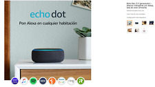 Echo dot (3.ª Gen) smart speaker with Alexa, Anthracite fabric