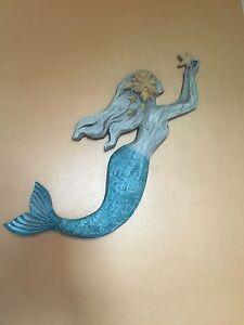 Fabulous DECORATIVE MERMAID WALL SCULPTURE. Art Nautical Ocean Home Decor. NEW