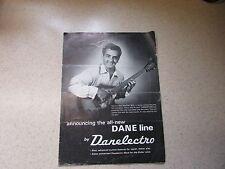 Original 1967 Danelectro Catalog Vinnie Bell Cover