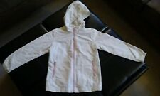 LANDS END Girls Size 6X Squall Rain Jacket Eggshell/Pink Coat Spring
