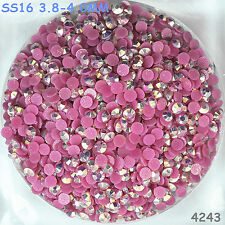 4000pcs SS16 Purple Red AB Hot-fix Crystal Acryl Rhinestone Bound Bead flatback