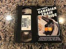 The Great Canadian Train Ride Rare VHS!