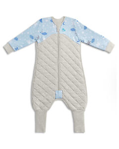 LOVE TO DREAM SLEEP SUIT 2.5 TOG - BLUE / GREY 12-24 MONTHS SIZE 1
