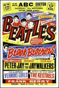 Beatles Concert Poster, Exeter, ABC Theatre, 1963