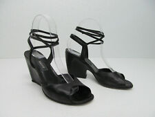 BALLY Balsar Made in Italy Gladiator Heels Sandal Black Leather size Women's 7.5