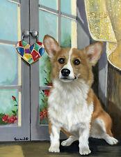 "Precious Pet Garden Flag - Corgi Sun Catcher 12"" x 18"" ~ Charity!!"